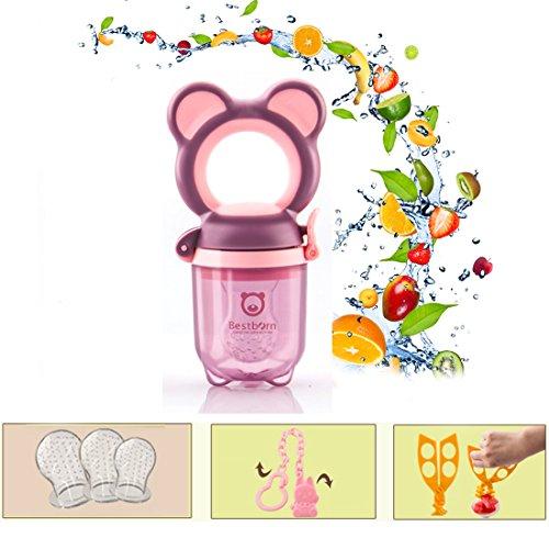 Best Born Hochwertiger BPA Freier Sicherer Fruchtsauger frische Nahrungsmittelzufuhr - BPA frei (Purple)