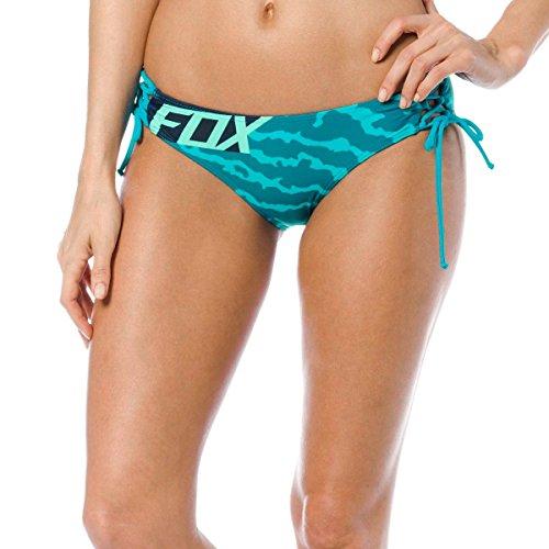 Seite Damen Badeanzug Unten (Fox Badeanzug - Unten Firing Lace Up Side Tie Btm Jade, Größe S)