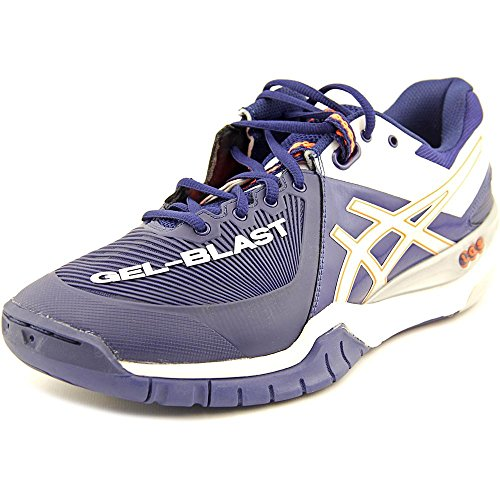 ASICS Men's Gel Blast 6 Indoor Court Shoe,Navy/Lightning/White,13 M US (Indoor Asics Court Schuhe)