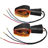 Wooya Paar Turn Signal Licht Indikator Für Honda Cb400 Cb1300 CBR 600 1000 RR F4 F4I-Gelb
