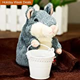 Szresm Talking Hamster Repeats What You Say Electronic Pet Talking Plush Buddy Mouse For Child Kids Party Toys