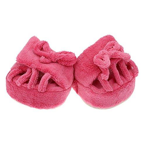 Adelgazante Zapatillas - TOOGOO(R)Adelgazante Pierna Zapatillas Polar de Coral Media Planta Zapatos Interior Rosa