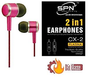 BitBlaze 2 in 1 PlatinaHeadset (Pink) for Sony Xperia Z3 Compact