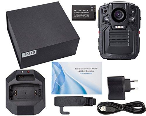 Angin-Tech Cam102 Infrarot-Nachtsicht HD 1080P Polizei Körper getragen Videokamera Sicherheit IR-Cam Eingebauter GPS-Unterstützung Bewegungserkennung + 16GB TF-Karte (mit Karte 16GB TF) - 6