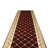 Flur Passage Carpets Flur,Langer Teppich Gang Gang voll Shop Home Schlafzimmer braun Rutschfeste Teppich Veranda Foyer Bodenmatte (Farbe: A Größe: 1,4 * 1M),red,0.9 * 5M
