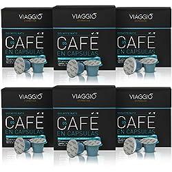 VIAGGIO ESPRESSO - 60 Cápsulas de Café Compatibles con Máquinas Nespresso - DECAFFEINATO