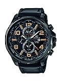 CASIO Herren Chronograph Quarz Uhr mit Leder Armband EFR-302L-1AVUEF
