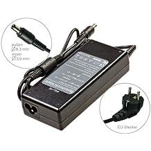 90W Alimentador Cargador Notebook AC Power compatible con Toshiba Satellite 2400 2400-S201 2400-S202 2400-S251 2400-S252 2450 2450-101 2450-114 2450-201 2450-202, con eurocable