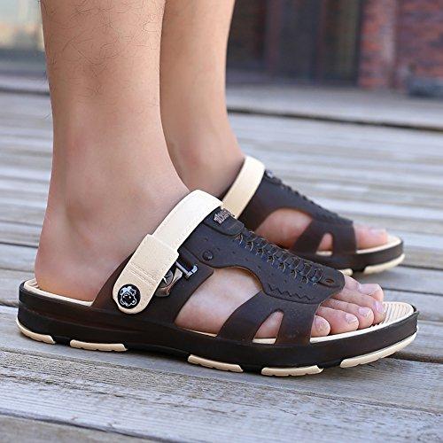 ZHShiny Sandali da Spiaggia Comfort da Spiaggia Pantofole da Passeggio Scarpe da Zoccoli a Secco Quick-Dry Marrone scuro