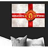 Tamatina Manchester United Football Club Poster - Logo - Large Size Poster - HD Quality Sports Poster - 36 Inches X 24 Inches (92 Cms X 61 Cms)