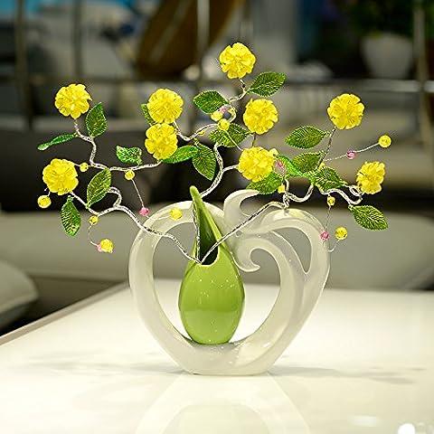 Lx.AZ.Kx Un idilliaco vento decorazione vasi di ceramica Il soggiorno è parte Home decorazioni arredato Home Fiori Secchi Boutonniere Artsb floreali)