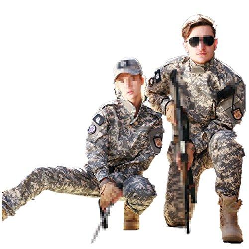 ke Taktisch Uniform Softairjacke Taktische Männer BDU Kampf Jacke Shirt & Hosen Anzug Camo für Kriegsspiel Armee Militär Paintball Airsoft Jagd Schießen ()