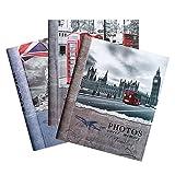 Unbekannt 3Stück Alben BILDER London Klebstoffe 40weißen Seiten