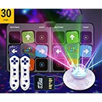 Asnails Double-Use Dance Mat, Non-Slip Dancing Blanket Dancing Step Pads To PC with USB, For PC TV AV Video Game with Built in Music Tracks And Wireless Technology,Disney