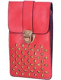 Ratash Golden Cut Work Sling Bag Red (Hbd_52_53_54_14)