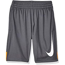 Nike Boys' B Nk Dry Short Hbr Trousers, Orange Peel/Dark Grey/White, S