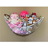 Huijukon Stuffed Animals Hammock, Toy Hammock Net Organizer for Stuffed Animals