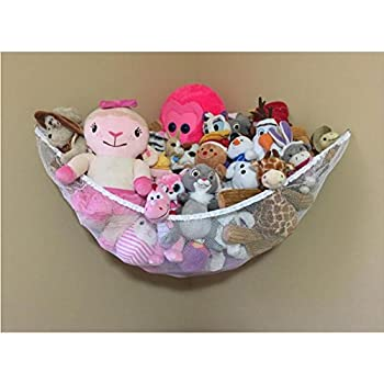 stuffed animals hammock huijukon toy hammock   organizer for stuffed animals large high quality multi purpose toy hammock teddy tidy mesh      rh   amazon co uk