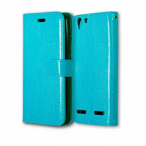 Custodia Lenovo Lemon 3 (Lenovo Vibe K5 Plus / A6020a46) Cover Case, Ougger Portafoglio PU Pelle Magnetico Stand Morbido Silicone Flip Bumper Protettivo Gomma Shell Borsa Custodie con Slot per Schede Colore Blu