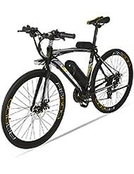 Extrbici® RS600 700C Vélo de ville électrique 240W 36V 20A Bicyclette Homme en Alliage d'Aluminium SHIMANO TZ-21 Vitesses avec Suspension de la Fourchette, Couleur Gris Cyrusher