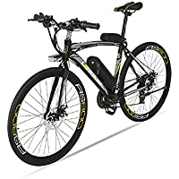 Extrbici Vélo de Ville électrique RS600 700C 240W 36V 20A Bicyclette Homme en Alliage d'Aluminium Shimano TZ-21 Vitesses Suspension de la Fourchette, Couleur Gris Cyrusher (UK Stock)