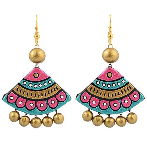 avarna terracotta large earring erd0005 multi-colour Avarna Terracotta Large Earring ERD0005 Multi-Colour 51OoER6kKAL