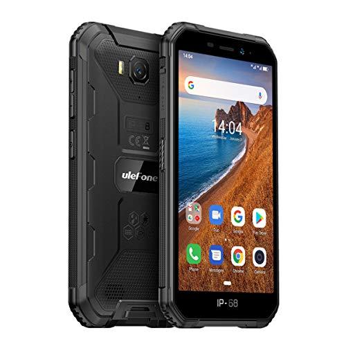 Ulefone Armor X6 Outdoor Handy Günstig Wasserdicht Stoßfest Staubdicht Smartphone ohne Vertrag, 5.0 Zoll, 4000mAh Akku 2GB+16GB Android 9.0 Dual SIM, Bluetooth GPS WiFi Face ID - Schwarz