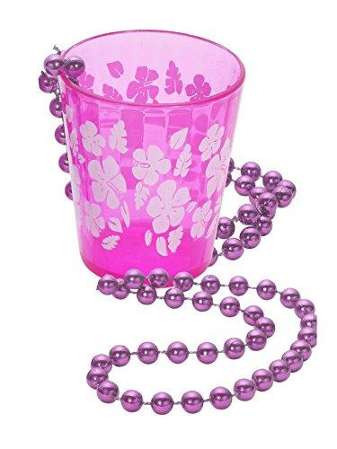 Schnapsglas zum Umhängen JGA-Party pink-weiss 6cm Einheitsgröße