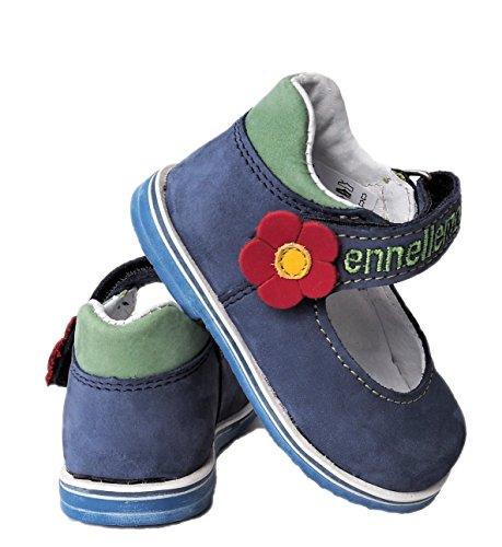 ennellemoo®  Made in EU , Chaussures premiers pas pour bébé (fille) Blau/Grün/Rot