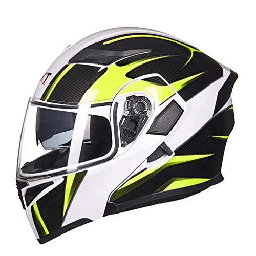 Qianliuk casco moto per uomo e donna doppia lente full face casco racing capacete con visiera sole interno può mettere auricolare bluetooth flip up casco