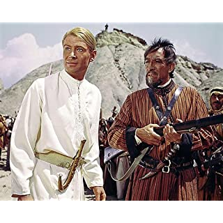 Moviestore Peter O'Toole als T.E. Lawrence unt Anthony Quinn als Auda abu Tayi in Lawrence of Arabia 25x20cm Farbfoto