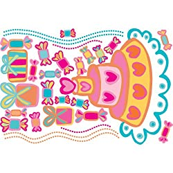 RoomMates RMK2292SLM Birthday Cake Peel and Stick Giant Wall Decals