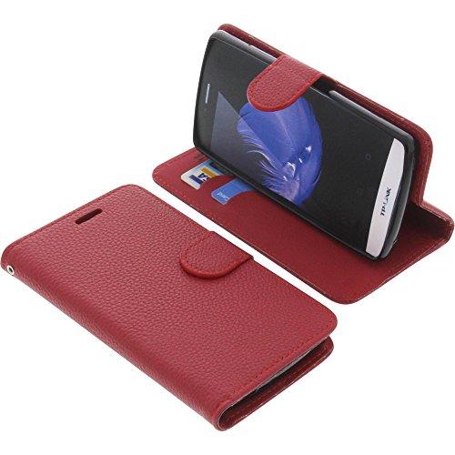 foto-kontor Tasche für TP-Link Neffos C5L Book Style rot Schutz Hülle Buch