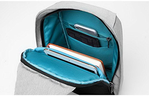 Acmebon Zaino impermeabile Unisex, multi-scomparti per attività all'aperto, zaino monospalla per sport Grigio 611