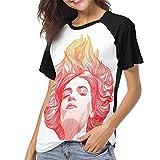 Photo de HSJCBHLS T-Shirts Femme Manches Courtes Florence and The Machine Women Baseball T Shirt Round Neck Tops Casual Shirt par HSJCBHLS