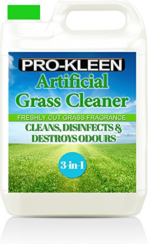Pro-Kleen Artificial Grass Cleaner – Perfect for Homes with Dogs. Cleans, Deodorises and Leaves a Fresh Cut Grass Fragrance – 5 Litre Super Concentrate: Makes 15 Litres