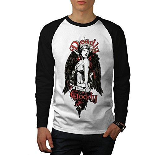 Tötlich Bonbon Engel Sexy schaurig Mädchen Herren M Baseball lange Ärmel T-Shirt | Wellcoda
