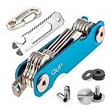 QLIP Schlüssel Organizer Smart Key Organizer Schlüsselanhänger mit Flaschenöffner und Karabiner mit Autoschlüssel, Blau, 2-10 Schlüssel