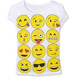 Jolly Rascals SSEMOJIT, Camiseta Nias, Blanco (White), 5-6 Años