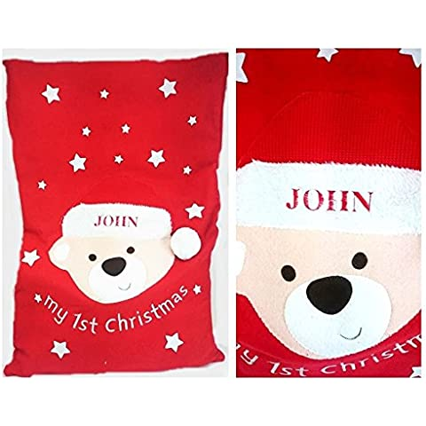 Baby First Christmas ricamo personalizzato s 1st