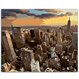 WMMSM Con vistas al paisaje de Nueva York DIY pintura por números Kit pintura sobre lienzo caligrafía para la decoración casera