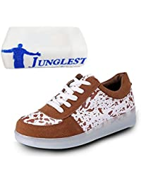 (Present:kleines Handtuch)Schwarz EU 42, Fasching Erwachsene Sneaker LED für Damen JUNGLEST® Unisex Partyschuhe Aufladen Leuchtend Turnschuhe Brinny USB mode Herren