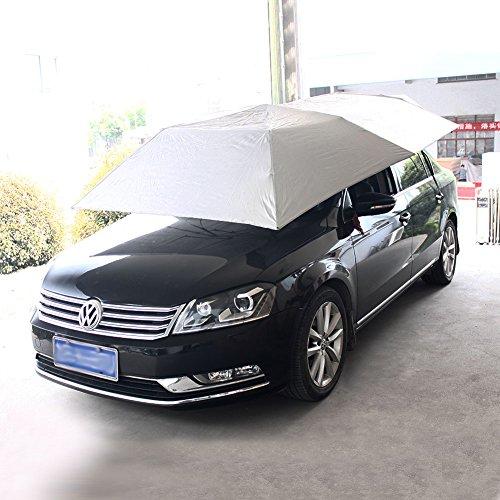 TARAZON Tragbar Gefaltet Semi Automatisch Halbautomatisch Auto Zelt Regenschirm Schutz Sunproof Sonnenblende Sonnenschutz Anti UV