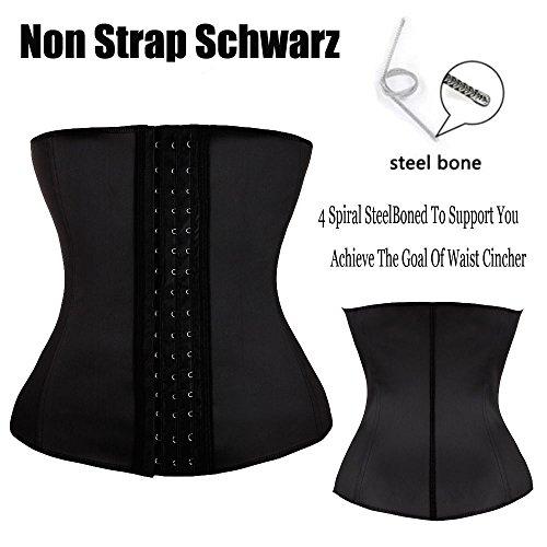MISS MOLY Waist Trainer|Damen Waist Cincher Stark Figurformende Shape Korsett Bauchweg Taillenformer Schwarz
