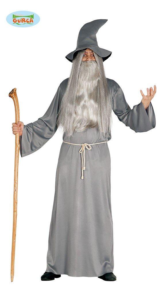 Zauberer Kostüm für Herren Mittelalter Magier Halloween Herrenkostüm Gr. M/L