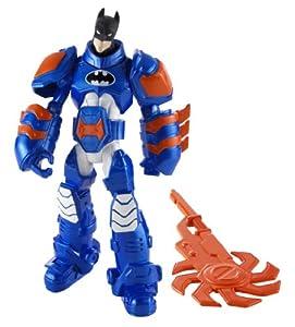 Batman - Figuras de acción, Pack Heroe Villano, Armadura Azul (Mattel X2300)