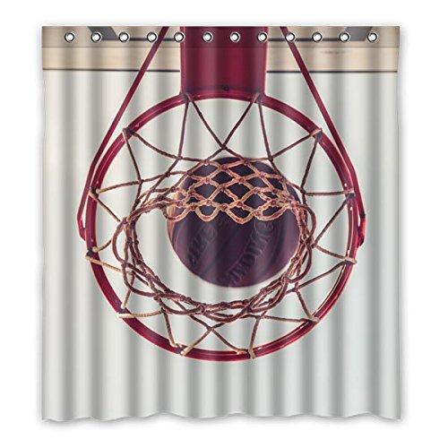 """167 centimetri x183 cm (66 """"x72"""") Bagno Doccia Tenda, universale personalizzati pallacanestro Sport Character Design Bathroom Shower Curtain"""