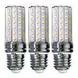 Sagel E27 LED Mais Birne, 12W LED Kerzenleuchter Glühbirnen 100 Watt Äquivalent, 1200lm, Cool Weiß 6000K LED Kronleuchter Lampen, Sockel E27, Nicht Dimmbare LED Lampe, 3er Pack