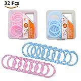 Ringe für Ringbücher / Ringhefter, Kunststoff, für lose Blätter, 3 cm Durchmesser, 4 Schachteln mit zufälliger Verpackung, 32 Stück