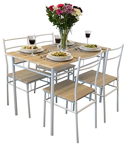 piece kitchen dining table chairs set white under brand